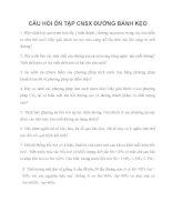 CÂU hỏi ôn tập CÔNG NGHỆ sản XUẤT ĐƯỜNG BÁNH kẹo