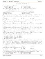 Đề thi thử môn hóa MClass số 11
