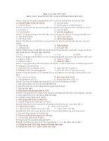 CÂU HỎI TRẮC NGHIỆM ÔN THI  DI TRUYỀN HỌC   CHƯƠNG I