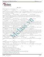 Đề thi thử môn hóa MClass số 2