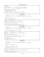 Bài tập rút gọn ôn 10