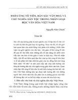 Thờ cúng tổ tiên, bản sắc văn hóa và chủ nghĩa dân tộc trong nhân loại học văn hóa Việt Nam