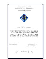 phân tích thực trạng và giải pháp nâng cao hiệu quả hoạt động tín dụng tại ngân hàng tmcp việt nam thương tín sở giao dịch sóc trăng