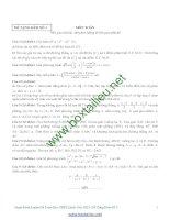 Tuyển tập 10 đề thi thử cực hay môn toán có đáp án và bình luận