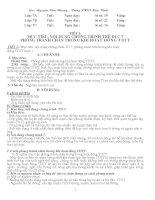 GIÁO ÁN THỂ DUC 7. MỚI NHẤT