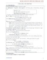 BỘ bài LUYỆN tập KIẾN THỨC TIẾNG ANH lớp 8