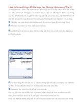 Làm thế nào để thay đổi thư mục lưu file mặc định trong Word