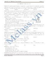 Đề thi thử môn hóa MClass số 13