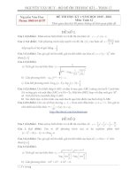Bộ đề thi học kì 1 môn toán khối 12 năm học 2015  2016