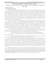 SỬ DỤNG HIỆN TƯỢNG THỰC TIỄN  TRONG DẠY HỌC HÓA HỌC NHẰM TĂNG HỨNG THÚ HỌC TẬP BỘ MÔN HÓA HỌC