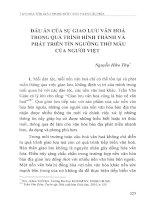 Dấu ấn của sự giao lưu văn hóa trong quá trình hình thành và phát triển tín ngưỡng thờ mẫu của người Việt