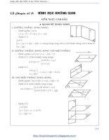 Chuyên đề hình học không gian ôn thi đại học