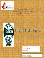 báo cáo Phân tích môi trường : Phương pháp bảo quản mẫu