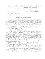 Số: 3256/BGDĐT hướng dẫn đánh giá, xếp loại hiệu trưởng trường tiểu học theo Thông tư số 14/2011/TT BGDĐT
