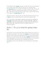 Cách SEO video đơn giản,hiệu quả