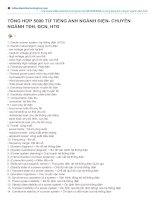 5000 từ tiếng anh nghành điện (Chuyên nghành TĐH, ĐCN, HTĐ)