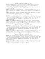 Bài tập về nhà dành cho học sinh giỏi khối 4 ( Toàn )