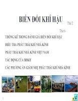 Giáo án, silde bài giảng môn BIẾN ĐỔI KHÍ HẬU  Ts. Lương Văn Việt đại học công nghiệp tp.hcm