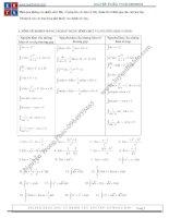 Chủ đề tích phân hay h