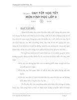 SKKN DẠY TOT HOC TOT TOAN 9