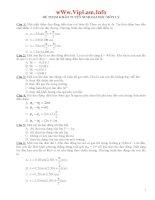 Đề thi thử Đại học Môn Vật Lí và đáp án