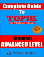 TOPIK II ADVANCED LEVEL GRAMMAR