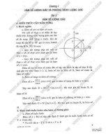 Giải bài tập toán 11 Chương Hàm số lượng giác và phương trình lượng giác