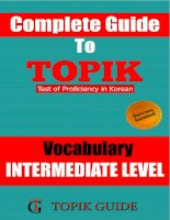 TOPIK II INTERMEDIATE LEVEL VOCABULARY
