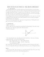 Một số bài toán tìm cực trị trong hình học