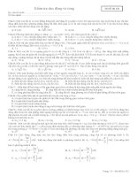 kiểm tra dao động và sóng cơ