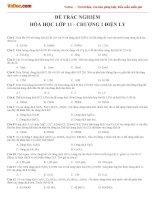 Bài tập trắc nghiệm Hóa học lớp 11 chương 1: Sự điện li