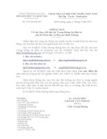 Thông báo thay đổi địa chỉ Trang thông tin điện tử của Sở Giáo dục và Đào tạo Bình Dương