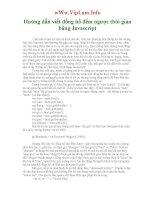 Hướng dẫn viết đồng hồ đếm ngược thời gian bằng Javascript