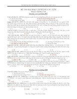 Sóng cơ trong các đề thi đại học và cao đẳng