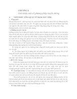 CHƯƠNG 1 GIỚI THIỆU một số PHƯƠNG PHÁP TRUYỀN THÔNG