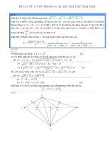 Bộ 3 câu khó trong đề thi THPT quốc gia môn toán