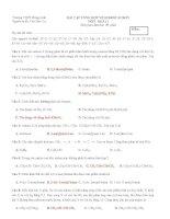 Bài kiểm tra tổng hợp về Hidrocacbon