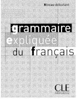 grammaire explique du francais debutant