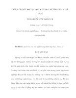 Bài tham luận quản trị rủi ro tại ngân hàng thương mại việt nam theo hiệp ước basel 2