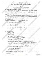 Giải bài tập toán 11 Chương Dãy số ,cấp số cộng và cấp số nhân