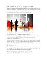 9 Bí Quyết Cải Thiện Kỹ Năng Giao Tiếp