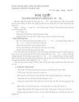 Nghị quyết đại hội chi đoàn