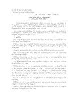 Báo cáo kiểm điểm của BCH chi đoàn trình đại hội 2010   2011