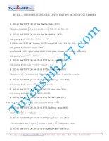 106 bài tập chọn lọc môn Toán chuyên đề lượng giác  có lời giải chi tiết