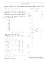 xác định các linh kiện và giải thích nguyên lý hoạt động và lắp mạch vận hành  các sơ đồ thủy lực