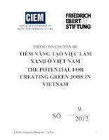 TIỀM NĂNG tạo VIỆC làm XANH ở VIỆT NAM THE POTENTIAL FOR CREATING GREEN JOBS IN VIETNAM