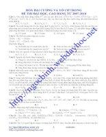 Tổng hợp các tập hóa vô cơ và hóa hữu c