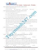 Bài tập hay nhất cần xem về amin – amino axit – protein