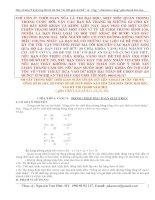 CHÌA KHÓA VÀNG 4/30: LUYỆN THI CẤP TỐC PP BẢO TOÀN E