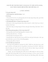 PHƯƠNG PHÁP LÀM DẠNG CÂU HỎI CHỨNG MINH, GIẢI THÍCH TRONG BỒI DƯỠNG HSG MÔN ĐỊA LÍ 9